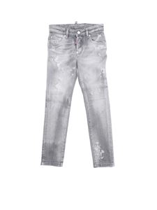 Dsquared2 - Skater jeans in grey with rips