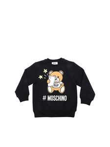 Moschino Kids - Teddy Bear Selfie sweatshirt in black
