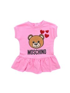 Moschino Kids - Teddy Bear dress in pink with hearts print