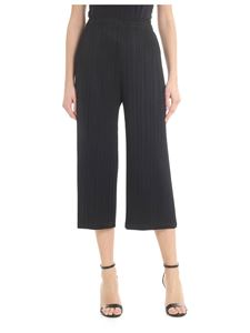 PLEATS PLEASE Issey Miyake - Ruffled fabric cropped trousers in black