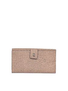 Borbonese - Graffiti Soft large wallet in brown