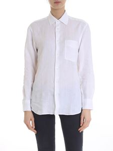 Aspesi - Shirt with patch pocket in white