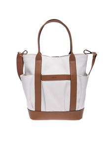 Hogan - Iconic medium bag in white and brown