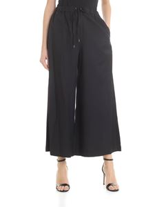 Zucca - Wide crop trousers in black