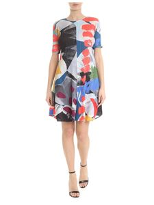 PLEATS PLEASE Issey Miyake - Ruffled muticolor dress