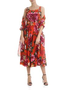 Samantha Sung - Aster dress with floral pattern in orange