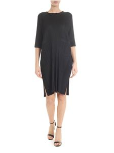 PLEATS PLEASE Issey Miyake - Ruched dress in black
