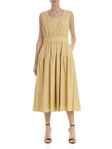 Aspesi - Dress with curled details in yellow