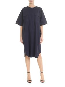Zucca - Wide dress with front pockets in blue