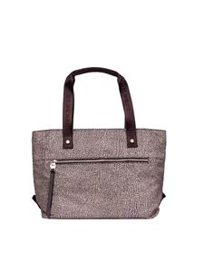 Borbonese - Jet OP medium shopping bag in brown
