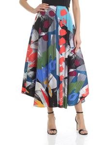 PLEATS PLEASE Issey Miyake - Flared multicolor skirt