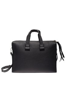 Orciani - Handbag briefcase in black leather