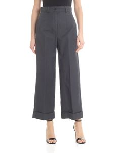 Aspesi - Turned-up bottom trousers in anthracite