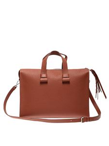 Orciani - Handbag briefcase in brown leather
