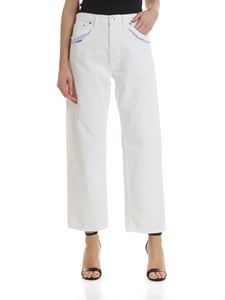 Maison Margiela - Jeans in white with visible lining