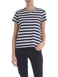 Labo.Art - Rico t-shirt with white and navy stripes