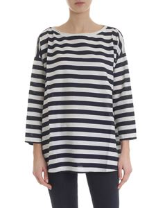 Labo.Art - Frasca t-shirt with white and navy stripes