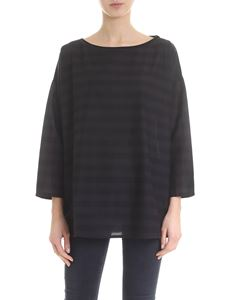Labo.Art - Frasca T-shirt with black and anthracite stripes