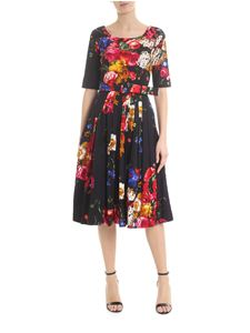 Samantha Sung - Florance dress with flowers in black