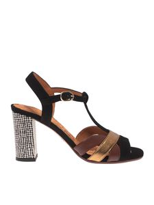 Chie Mihara - Beirun sandals in black and golden