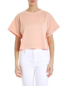 Jucca - Crop t-shirt in salmon color