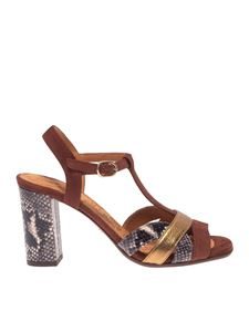 Chie Mihara - Beirun sandals in brown with animal print