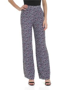 Michael Kors - Trousers in silk with heart print in blue