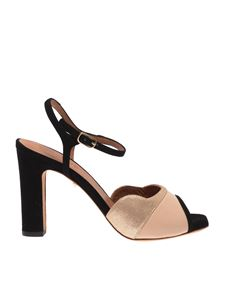 Chie Mihara - Joana sandals in black and golden