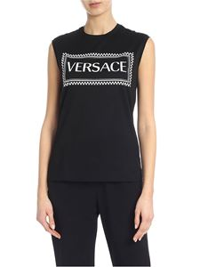 Versace - Black top with shiny effect logo