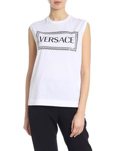 Versace - White top with shiny effect logo