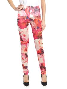 MSGM - Floral leggings in shades of pink
