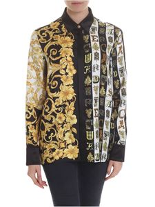 Versace - Multi patterned shirt in black and yellow