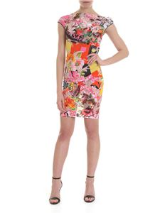 Versace - Multicolor devoré sheath dress