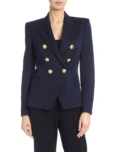 Balmain - Double-breasted jacket in blue