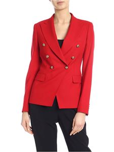 Tagliatore - Alycia double-breasted jacket in red