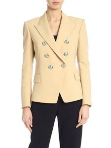 Balmain - Double-breasted jacket in beige