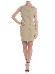 Balmain - Double-breasted dress in beige