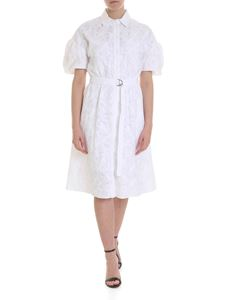 Kenzo - Embroidered short sleeve dress in white