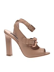 Paula Cademartori - Open-toe sandals in powder pink color leather