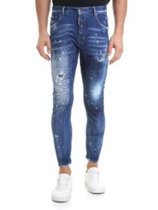 Dsquared2 - Jeans Tidy Biker blu destroyed