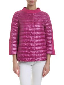 Herno - Quilted padded jacket in fuchsia