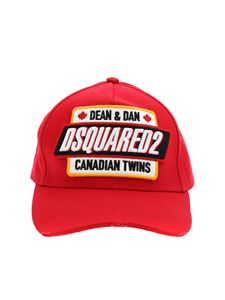 Dsquared2 - Canadian Twins baseball cap in red