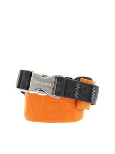 Palm Angels - Branded belt in orange and gray