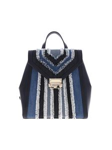 Michael Kors - Whitney backpack with frayed denim inserts