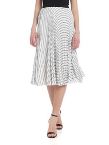 Karl Lagerfeld - Pleated Logo skirt in white