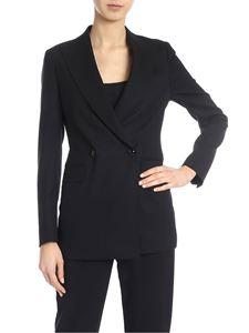Tagliatore - Double-breasted jacket in black