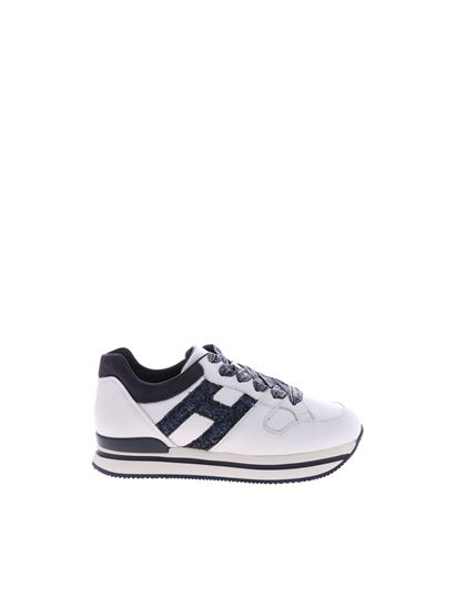 Hogan Junior Spring Summer 2019 j222 sneakers in white and blue ...