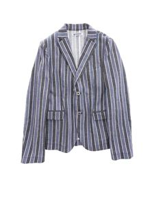 Dondup - Striped jacket in blue and light blue