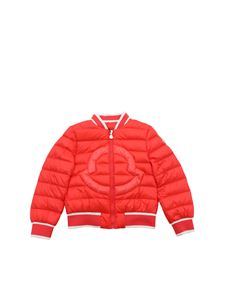 Moncler Jr - Gentian down jacket in coral red