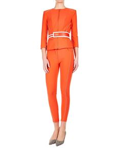Elisabetta Franchi - 5-pocket stretch pants in red with logo